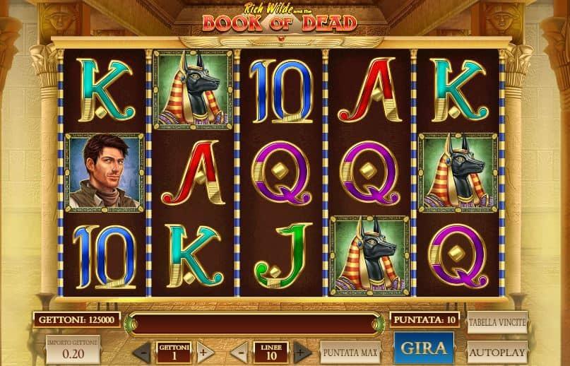 I simboli della slot online Book of Dead