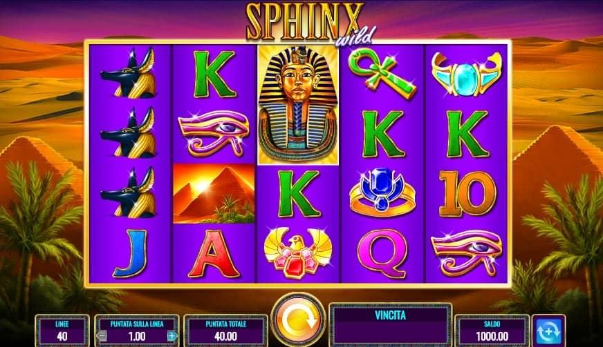 I simboli della slot online Sphinx Wild