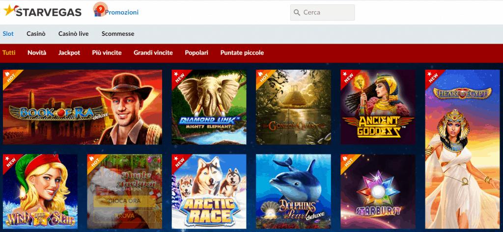 slot machine gratis online su Starvegas.it