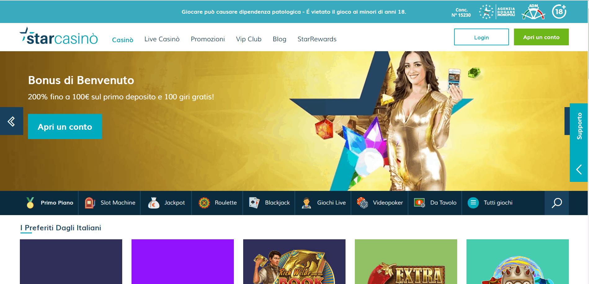 Starcasino desktop