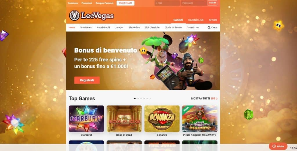 Slot machines su Leovegas