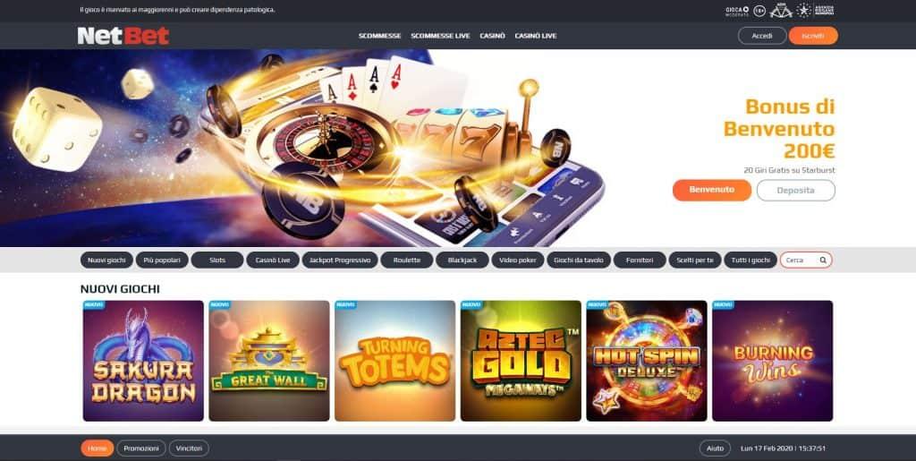 Slot machines su Netbet