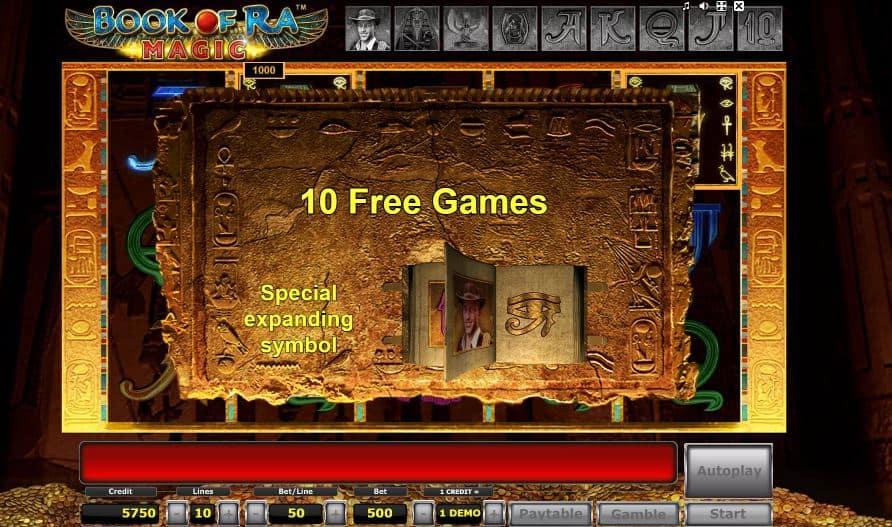 Oltre al gioco normale, a Book of Ra Magic hai la possibilità di vincere delle partite bonus