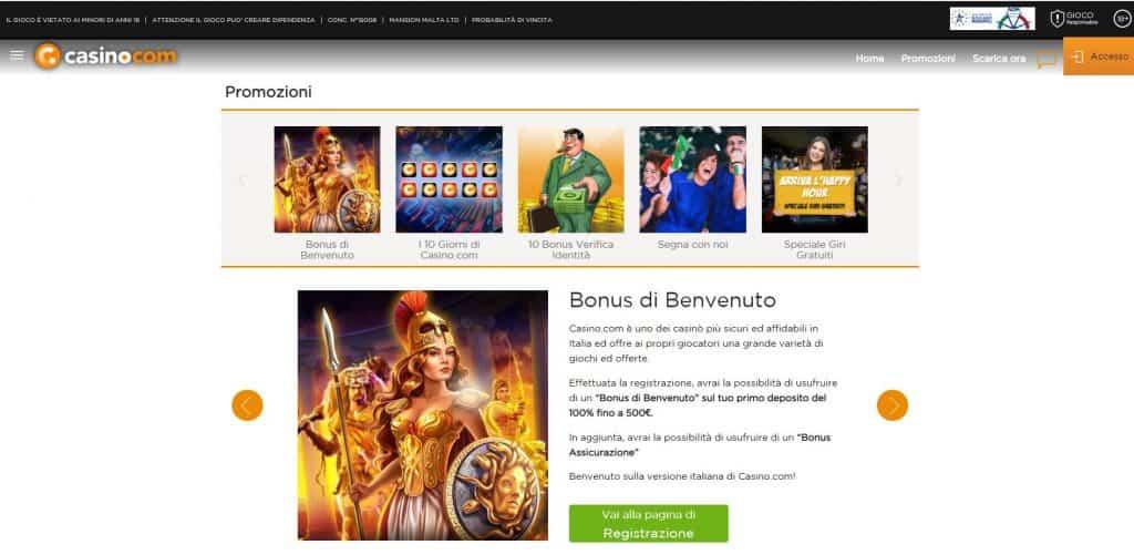 Bonus e Promozioni di casino.com