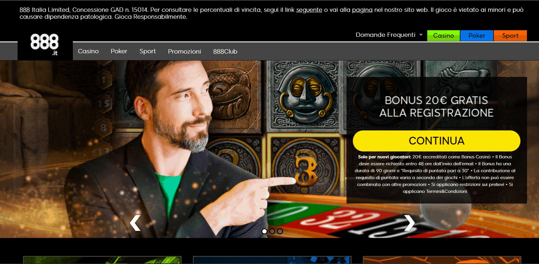 888 Casino desktop