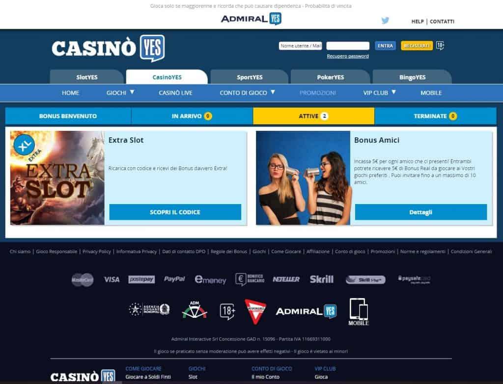 Bonus e Promozioni di CasinoYES