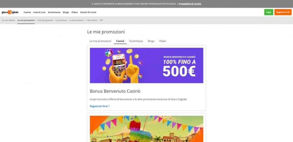Bonus e Promozioni di Gioco Digitale