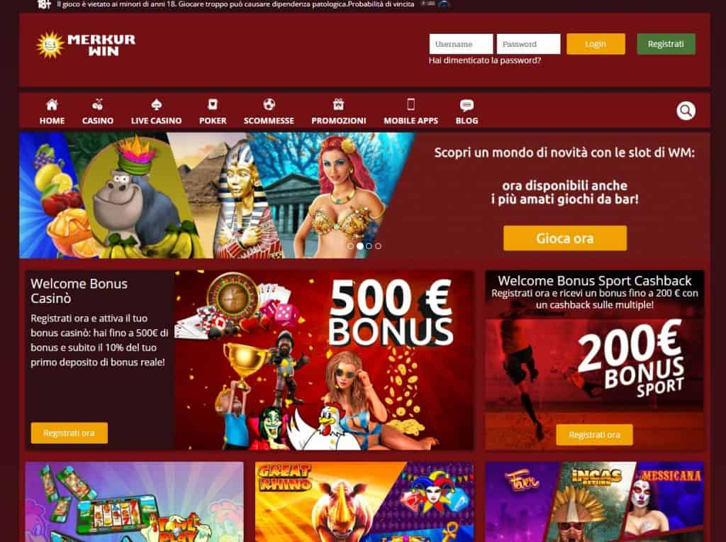 Slot machines su Merkur Win
