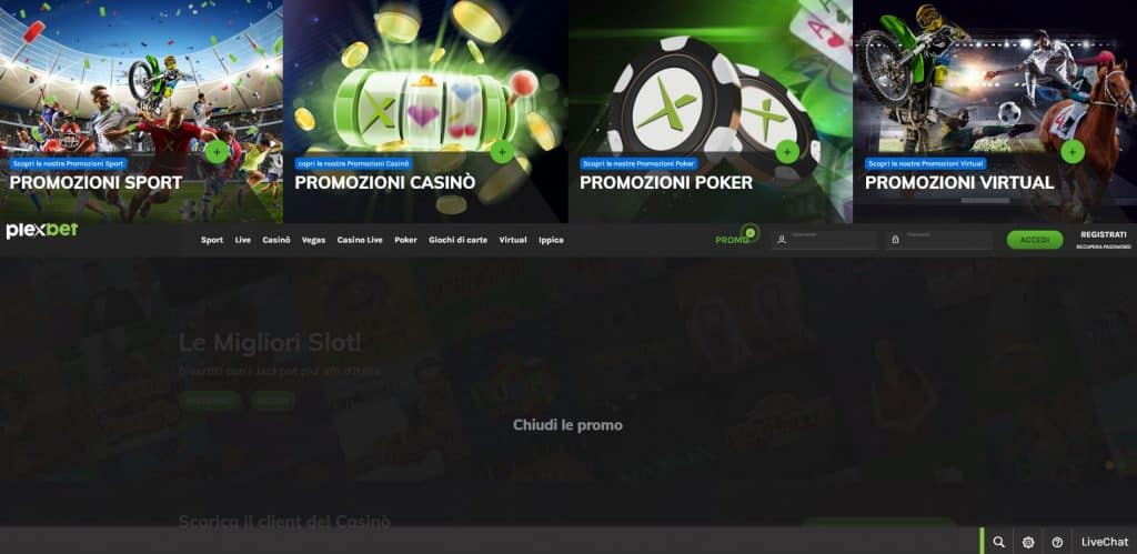 Bonus e Promozioni di Plexbet