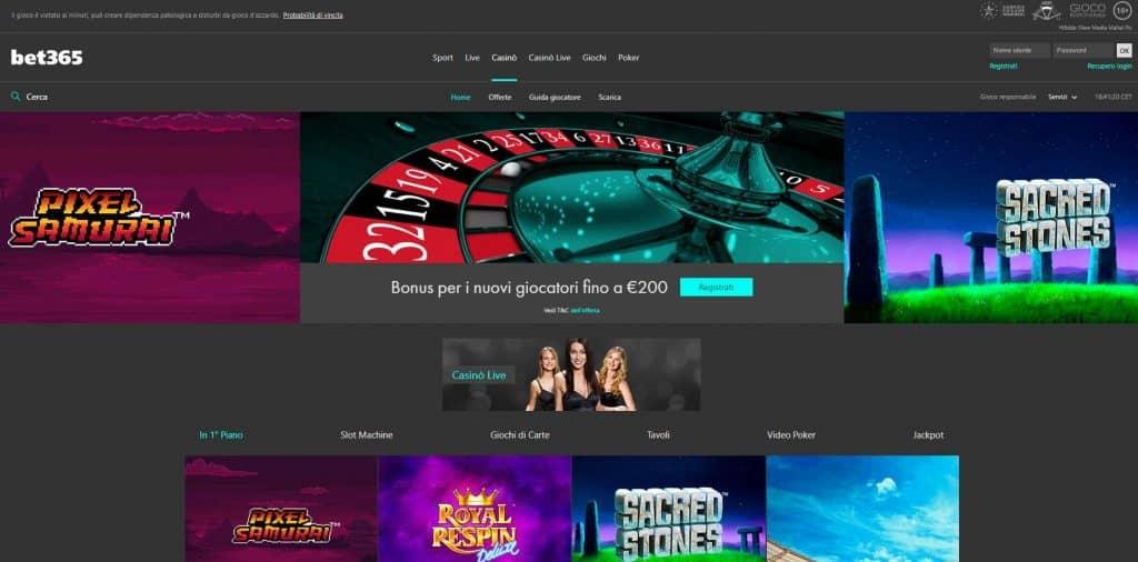Slot machines su Bet365