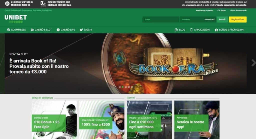 Slot machines su Unibet