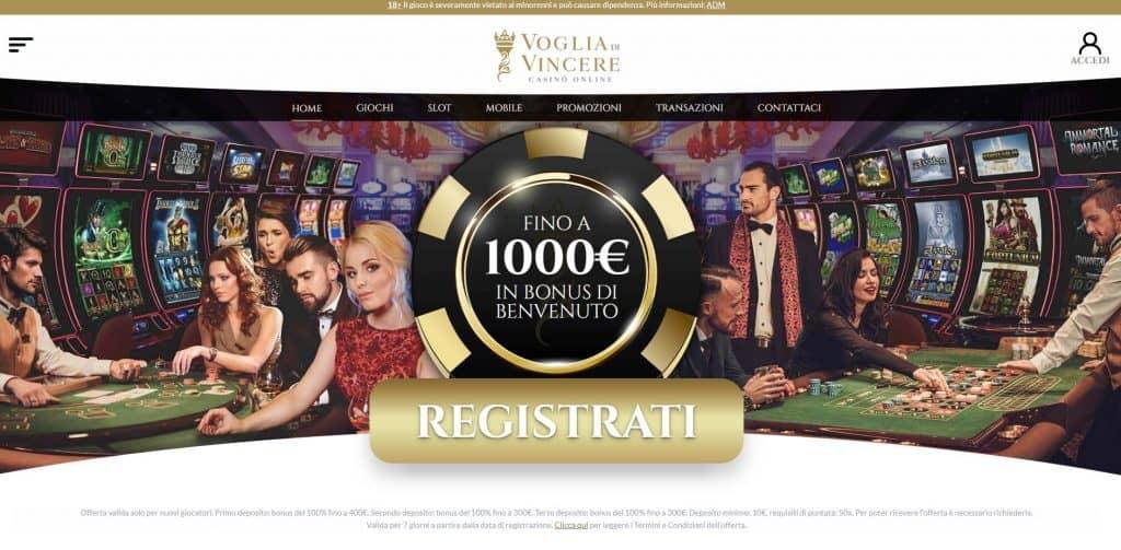 Slot machines su Voglia di Vincere