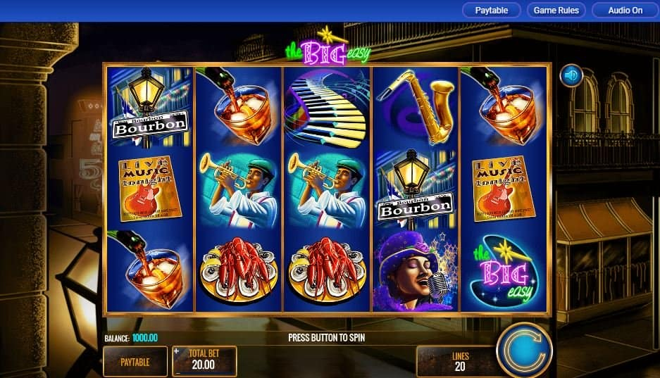 I simboli della slot online the big easy