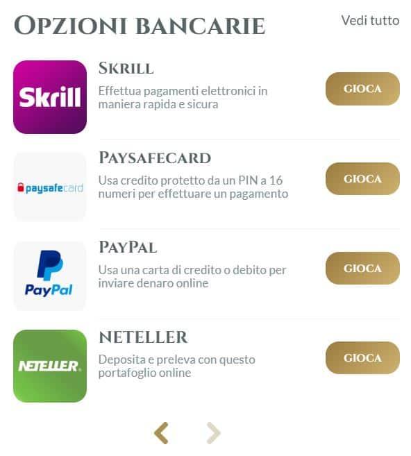 Opzioni de pagamento 2 di Voglia di Vincere