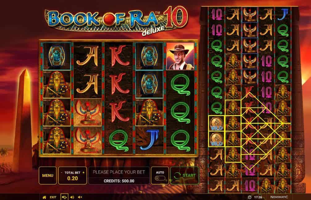 I simboli della slot online Book of Ra 10 Deluxe