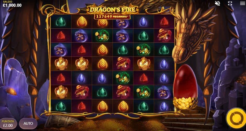 I simboli della slot online Dragons Fire Megaways