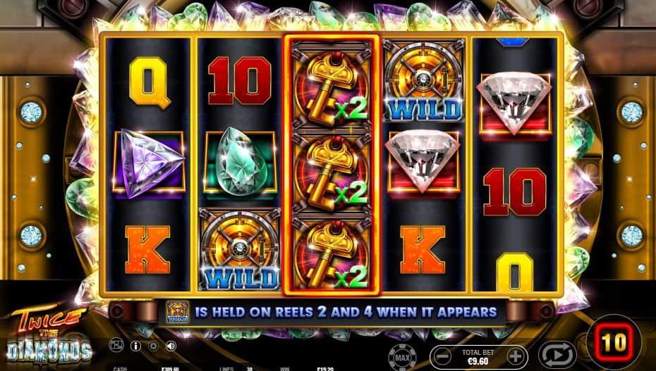Oltre al gioco normale, a Twice the Diamond hai la possibilità di vincere delle partite bonus