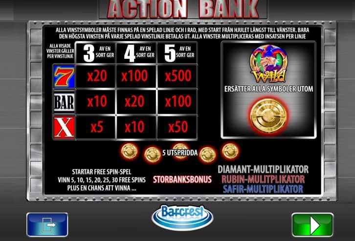 Action Bank Slot Machine App