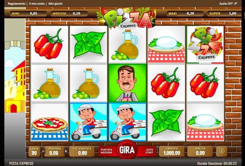I simboli della slot online Pizza Express