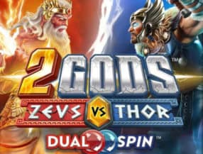 2 Gods Zeus versus Thor logo